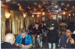 Diners served delicious meals in one of the Palace Wheels dinningcars cars.